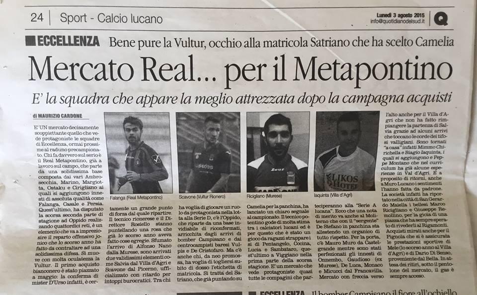 Mercato Real... per il Metapontino