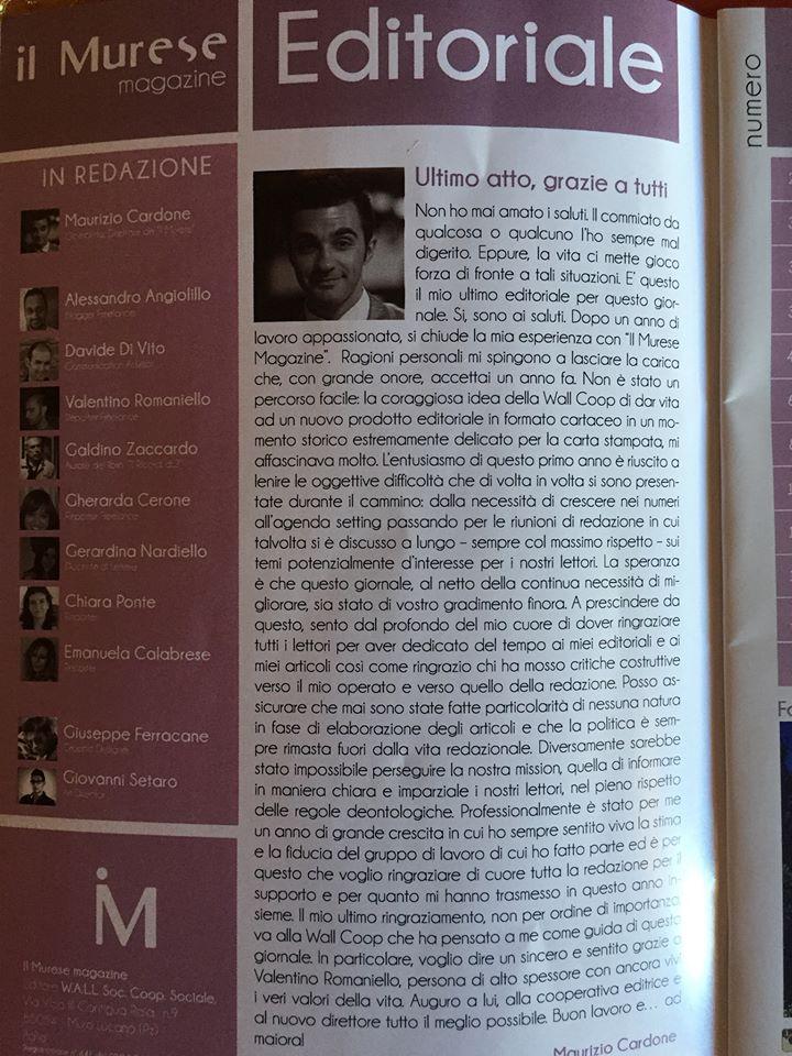"Il Murese ""Editoriale"""