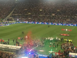 La premiazione della Juventus.